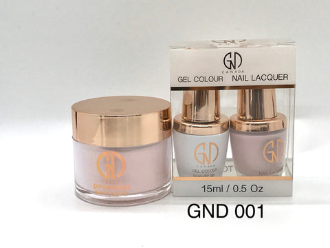 3-in-1 Nail Combo: Dip, Gel & Lacquer #001 | GND Canada® - CM Nails & Beauty Supply