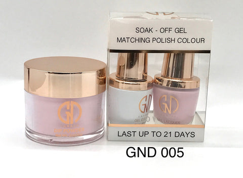 3-in-1 Nail Combo: Dip, Gel & Lacquer #005 | GND Canada® - CM Nails & Beauty Supply