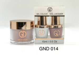 3-in-1 Nail Combo: Dip, Gel & Lacquer #014 | GND Canada® - CM Nails & Beauty Supply
