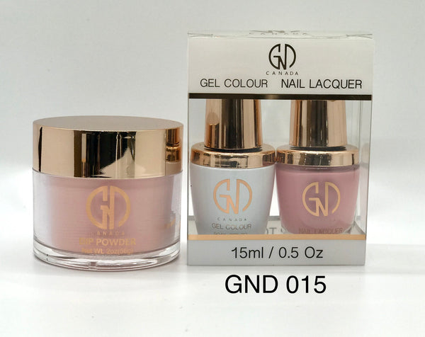 3-in-1 Nail Combo: Dip, Gel & Lacquer #015 | GND Canada® - CM Nails & Beauty Supply