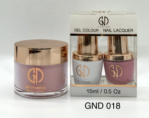 3-in-1 Nail Combo: Dip, Gel & Lacquer #018 | GND Canada® - CM Nails & Beauty Supply