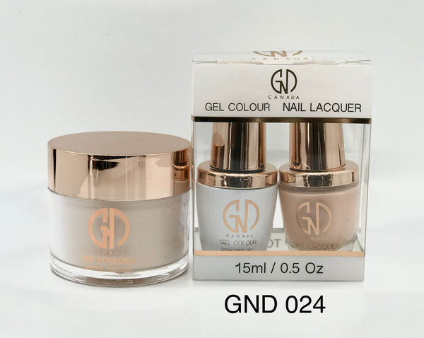 3-in-1 Nail Combo: Dip, Gel & Lacquer #024 | GND Canada® - CM Nails & Beauty Supply