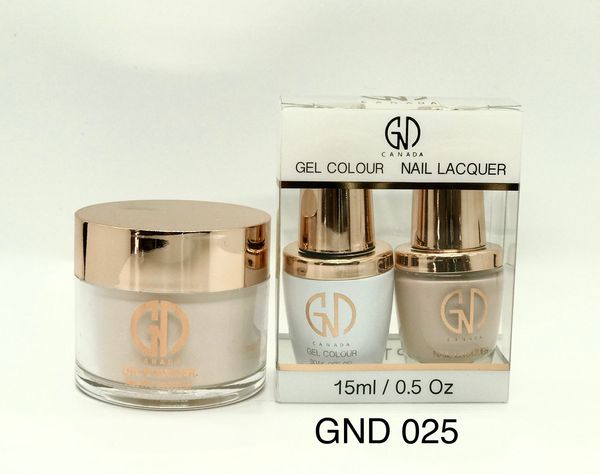 3-in-1 Nail Combo: Dip, Gel & Lacquer #025 | GND Canada® - CM Nails & Beauty Supply