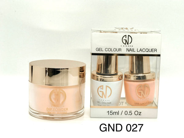 3-in-1 Nail Combo: Dip, Gel & Lacquer #027 | GND Canada® - CM Nails & Beauty Supply