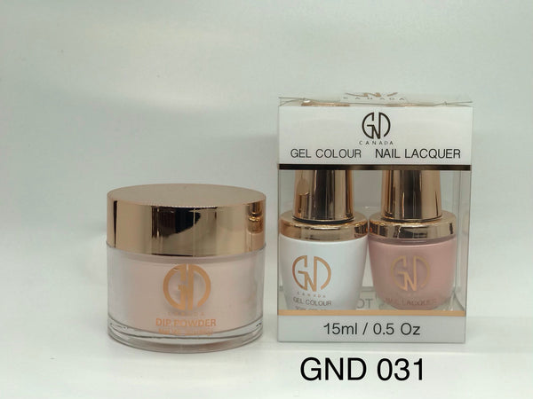 3-in-1 Nail Combo: Dip, Gel & Lacquer #031 | GND Canada® - CM Nails & Beauty Supply