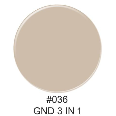 3-in-1 Nail Combo: Dip, Gel & Lacquer #036 | GND Canada® - CM Nails & Beauty Supply