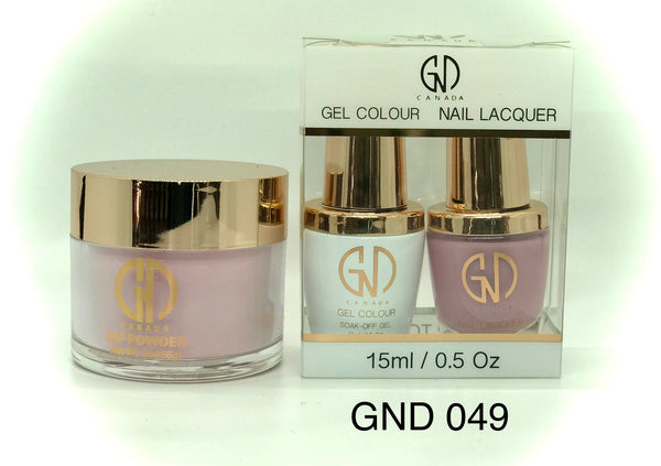 3-in-1 Nail Combo: Dip, Gel & Lacquer #049 | GND Canada® - CM Nails & Beauty Supply