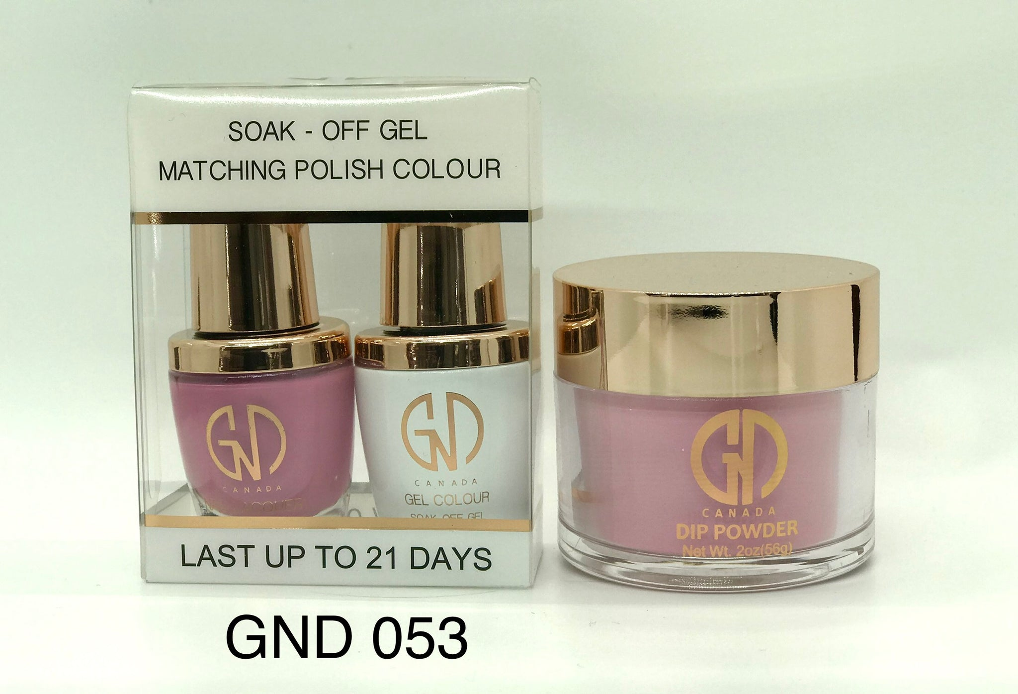 3-in-1 Nail Combo: Dip, Gel & Lacquer #053 | GND Canada® - CM Nails & Beauty Supply