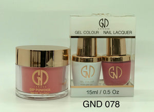 3-in-1 Nail Combo: Dip, Gel & Lacquer #078 | GND Canada® - CM Nails & Beauty Supply