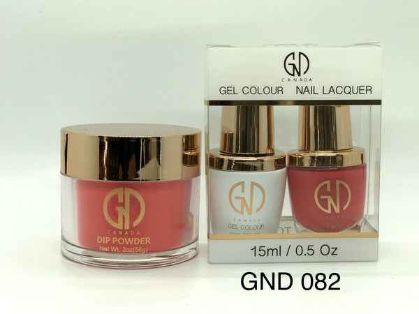 3-in-1 Nail Combo: Dip, Gel & Lacquer #082 | GND Canada® - CM Nails & Beauty Supply