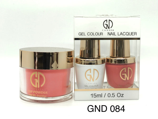 3-in-1 Nail Combo: Dip, Gel & Lacquer #084 | GND Canada® - CM Nails & Beauty Supply
