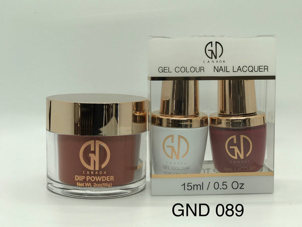 3-in-1 Nail Combo: Dip, Gel & Lacquer #089 | GND Canada® - CM Nails & Beauty Supply