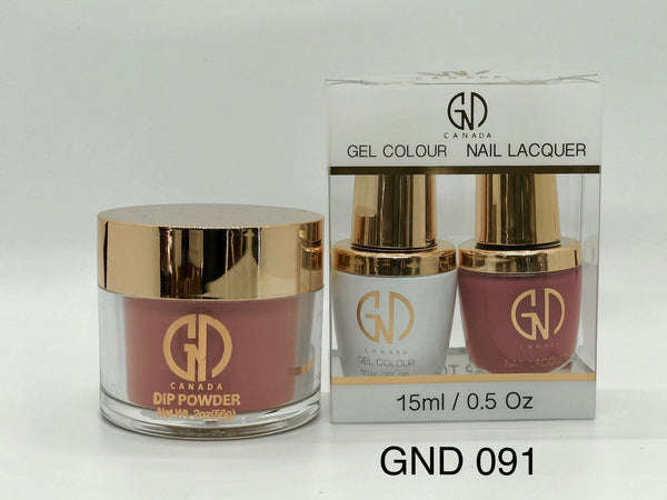 3-in-1 Nail Combo: Dip, Gel & Lacquer #091 | GND Canada® - CM Nails & Beauty Supply