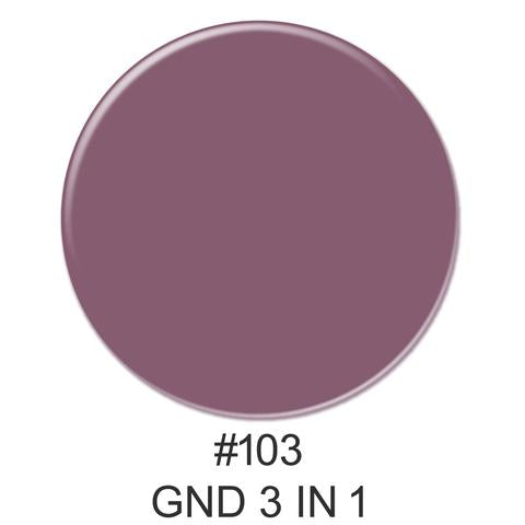 3-in-1 Nail Combo: Dip, Gel & Lacquer #103 | GND Canada® - CM Nails & Beauty Supply