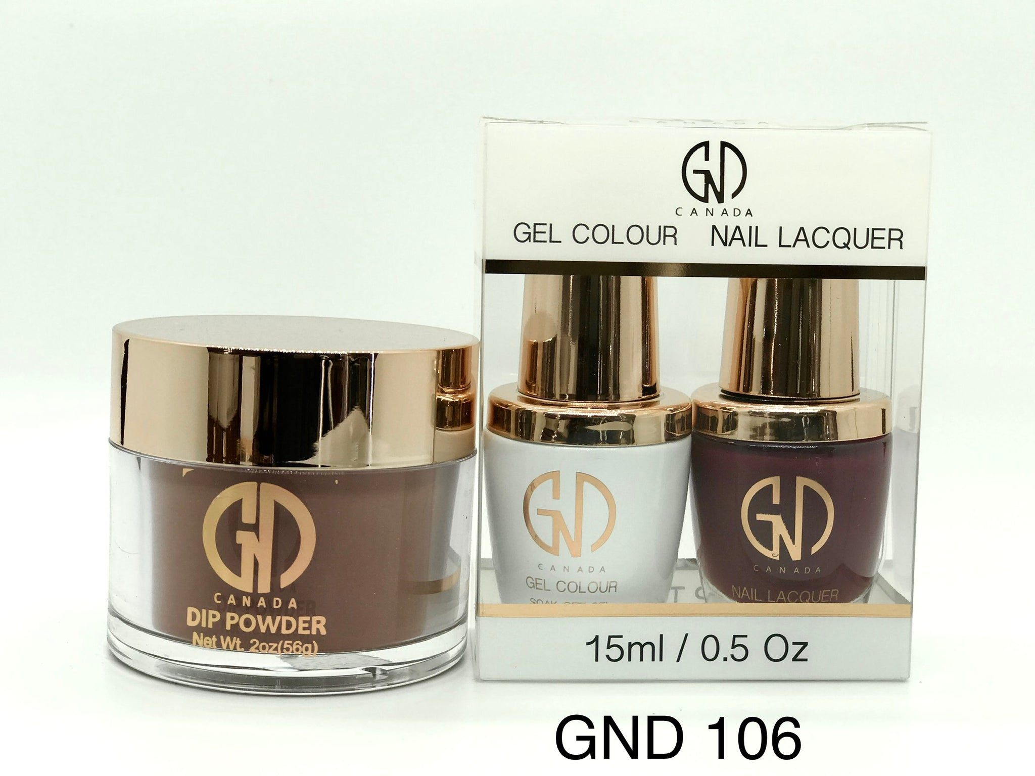 3-in-1 Nail Combo: Dip, Gel & Lacquer #106 | GND Canada® - CM Nails & Beauty Supply