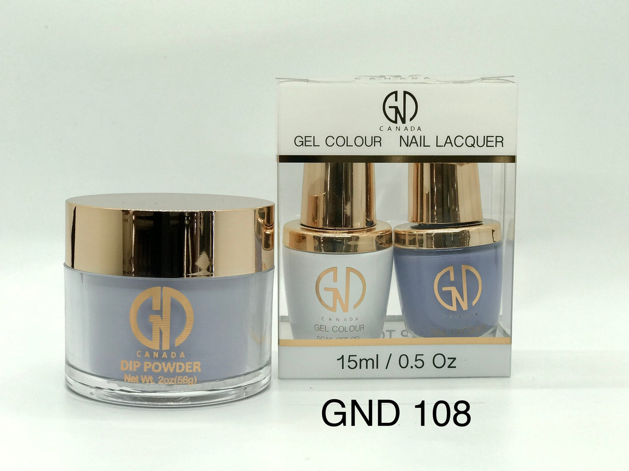 3-in-1 Nail Combo: Dip, Gel & Lacquer #108 | GND Canada® - CM Nails & Beauty Supply