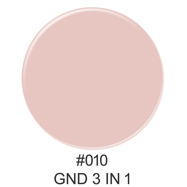 3-in-1 Nail Combo: Dip, Gel & Lacquer #010 | GND Canada® - CM Nails & Beauty Supply