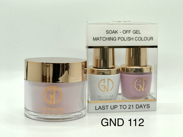 3-in-1 Nail Combo: Dip, Gel & Lacquer #112 | GND Canada® - CM Nails & Beauty Supply