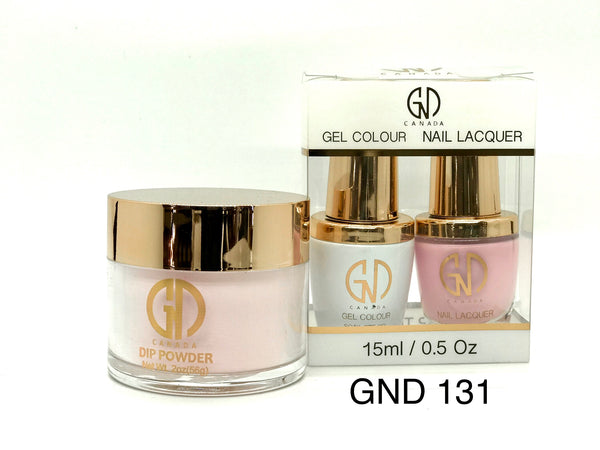 3-in-1 Nail Combo: Dip, Gel & Lacquer #131 | GND Canada® - CM Nails & Beauty Supply