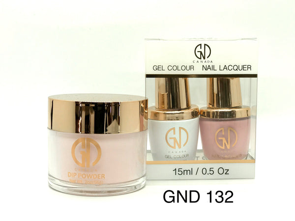 3-in-1 Nail Combo: Dip, Gel & Lacquer #132 | GND Canada® - CM Nails & Beauty Supply