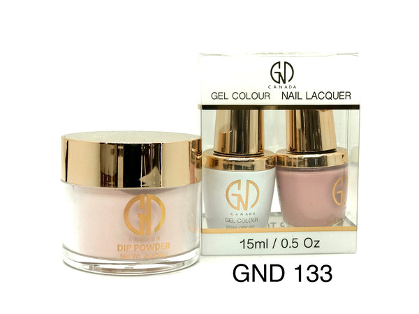 3-in-1 Nail Combo: Dip, Gel & Lacquer #133 | GND Canada® - CM Nails & Beauty Supply