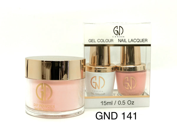 3-in-1 Nail Combo: Dip, Gel & Lacquer #141 | GND Canada® - CM Nails & Beauty Supply