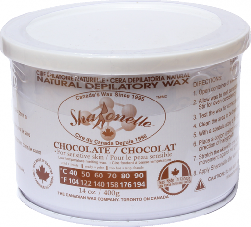 Natural Soft Wax - Chocolate (14 oz) | Sharonelle - CM Nails & Beauty Supply