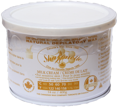 Natural Soft Wax - Milk Cream (14 oz) | Sharonelle - CM Nails & Beauty Supply