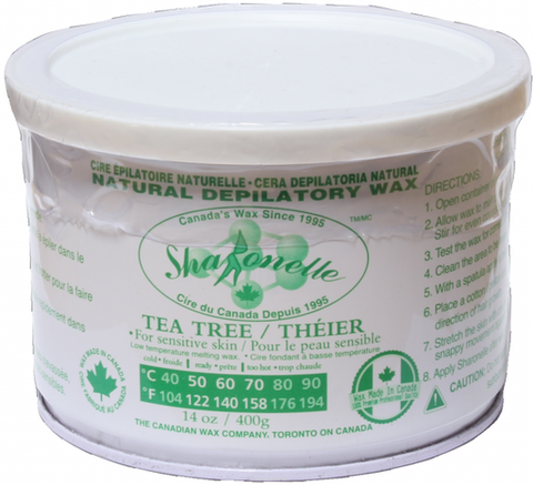 Natural Soft Wax - Tea Tree (14 oz) | Sharonelle - CM Nails & Beauty Supply