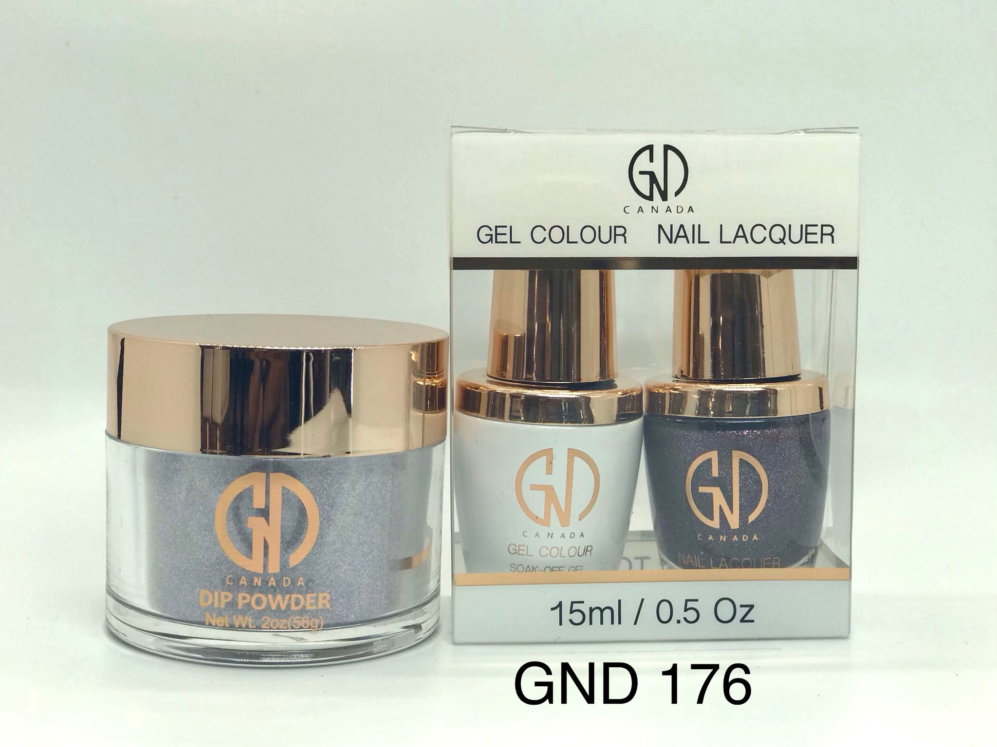 3-in-1 Nail Combo: Dip, Gel & Lacquer #176 | GND Canada® - CM Nails & Beauty Supply