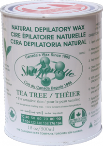 Natural Soft Wax - Tea Tree (18 oz) | Sharonelle - CM Nails & Beauty Supply