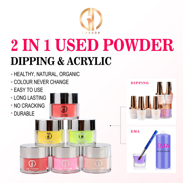 2-in-1 Acrylic Powder #018 | GND Canada® - CM Nails & Beauty Supply