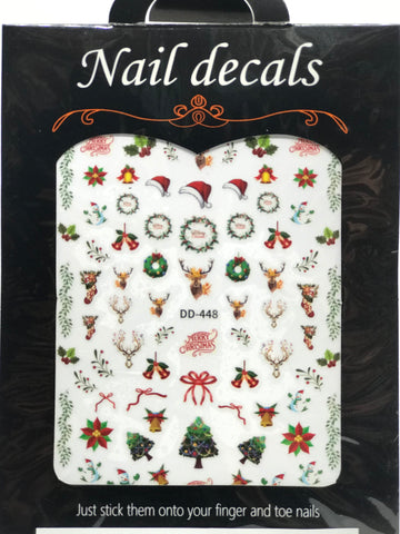 Christmas Nail Art Stickers (DD 448)