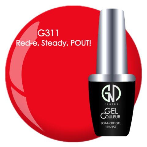 Red-e, Steady, POUTI | GND CANADA® 1-Step Gel - CM Nails & Beauty Supply