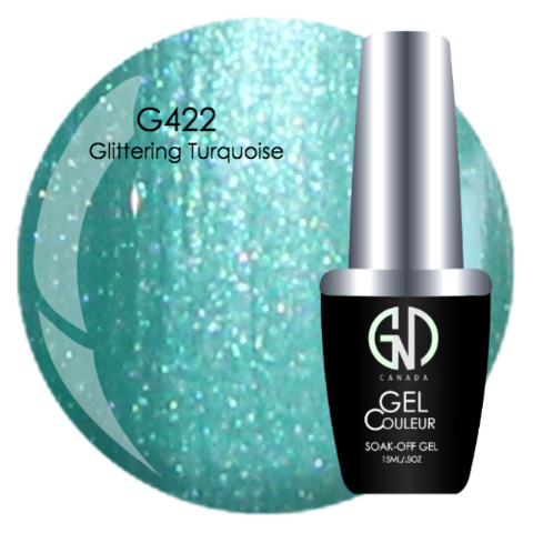 Glimmering Turquoise | GND Canada® 1-Step Gel - CM Nails & Beauty Supply
