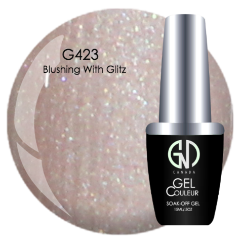 Blushing with Glitz | GND Canada® 1-Step Gel - CM Nails & Beauty Supply