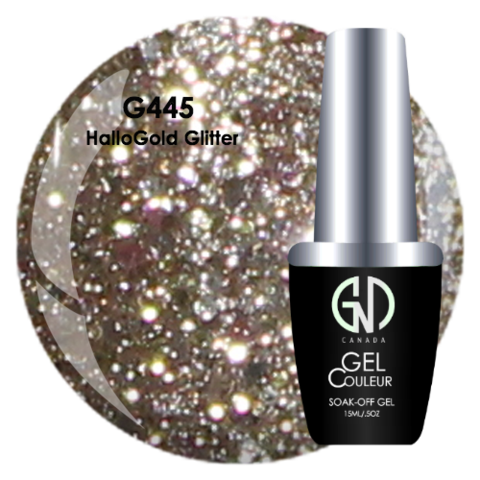 HalloGold Glitter | GND Canada® 1-Step Gel - CM Nails & Beauty Supply