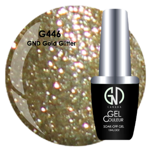 GND Gold Glitter | GND Canada® 1-Step Gel - CM Nails & Beauty Supply