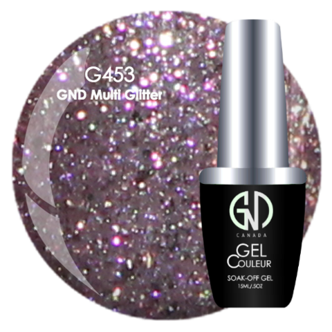 GND Multi Glitter | GND Canada® 1-Step Gel - CM Nails & Beauty Supply