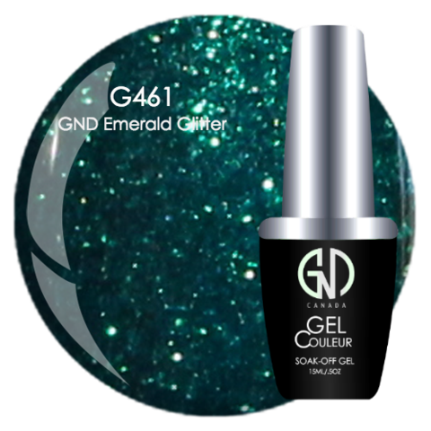 GND Emerald Glitter | GND Canada® 1-Step Gel - CM Nails & Beauty Supply