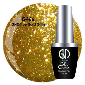 GND True Gold Glitter | GND Canada® 1-Step Gel - CM Nails & Beauty Supply