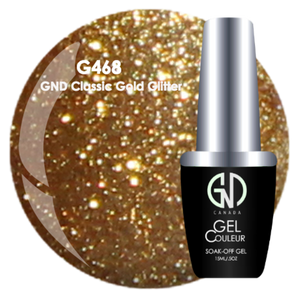 GND Classic Gold Glitter | GND Canada® 1-Step Gel - CM Nails & Beauty Supply