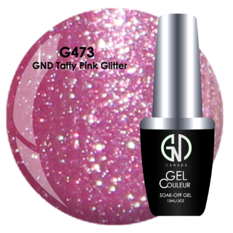 GND Taffy Pink Glitter | GND Canada® 1-Step Gel - CM Nails & Beauty Supply