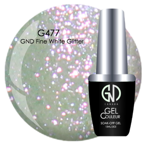 GND Fine White Glitter | GND Canada® 1-Step Gel - CM Nails & Beauty Supply