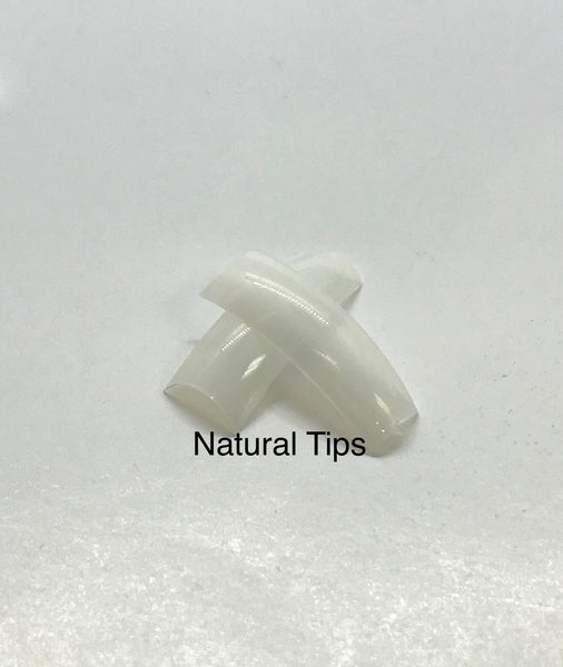US  Natural Nail Tips | Durable - Flexible - Refill Pack - Size #0 -10 Box of 550tips - CM Nails & Beauty Supply