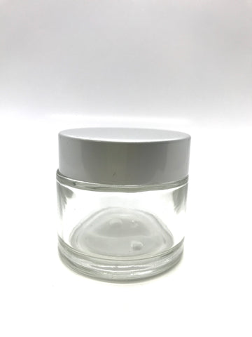 Liquid Cup - Clear Glass with Cap - CM Nails & Beauty Supply
