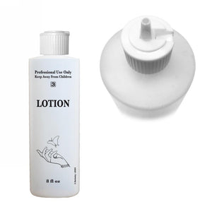 """Lotion"" Labelled Bottle with Flip Cap - Available in 8 oz & 16 oz - CM Nails & Beauty Supply"