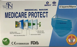 Face Mask (4 Layres) CE, FDA Approved - CM Nails & Beauty Supply
