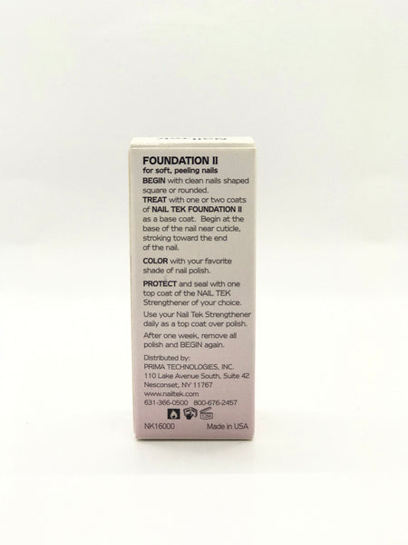 Nail Tek®  | Foundation # II | Ridge- Filling | Nail Strengthener | Base Coat 0.5 oz