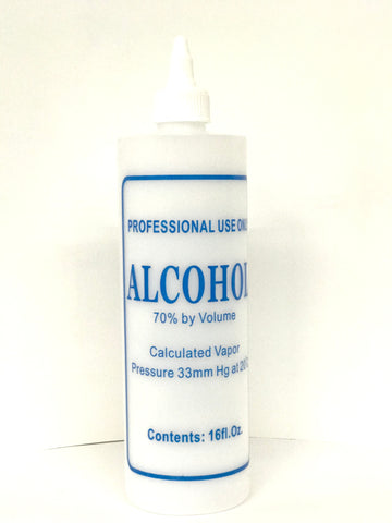 """Alcohol"" Labelled Bottle with  Twist Cap - Available in 16 oz"